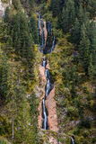 Cascada Cailor/Horses Waterfall 2. Horses Waterfall is the tallest waterfall in Romania with a total height of 80 m (262 ft) split over several steps, the Royalty Free Stock Photo