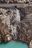 Cascada cerca de Kaprun - Zell ve, Austria Foto de archivo libre de regalías