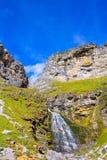 Cascada Cola de Caballo at Ordesa Valley Pyrenees Spain. Cascada Cola de Caballo waterfall under Monte Perdido at Ordesa Valley Aragon Huesca Pyrenees of Spain royalty free stock photography