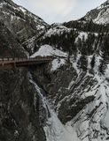 Cascada, Colorado, co, los E.E.U.U., viaje, carretera, de última hora, igualando el tiro, exposición larga fotografía de archivo libre de regalías