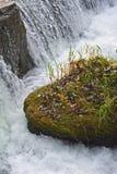Cascada con Autumn Colors Foto de archivo libre de regalías