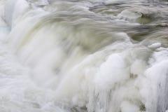 Cascada con hielo Fotografía de archivo libre de regalías