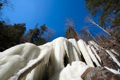 Cascada congelada Fotos de archivo