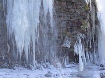 Cascada congelada de Muddy Creek Foto de archivo libre de regalías