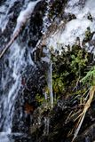Cascada congelada en Oberstdorf imagen de archivo