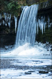 Cascada congelada País de Gales Imagen de archivo libre de regalías