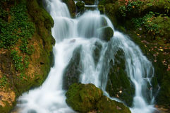 Cascada cubierta de musgo Fotos de archivo
