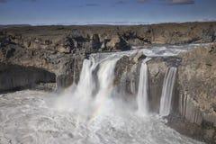 Cascada de Aldeyjarfoss Fotos de archivo libres de regalías