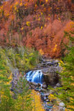 Cascada de Arripas waterfall in Ordesa valley Pyrenees Huesca Royalty Free Stock Image