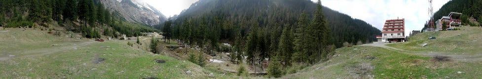 Cascada de Balea 360 degrés de panorama Photographie stock libre de droits