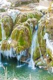 Cascada de Bigar congelada fotografía de archivo libre de regalías