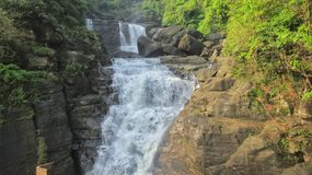 Cascada de Borhill, Dawki, Meghalaya imagenes de archivo