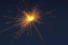 Cascada de chispas Foto de archivo libre de regalías