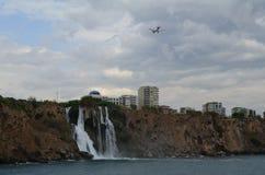 Cascada de Duden en Antalya foto de archivo