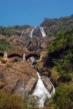 Cascada de Dudhsagar Fotografía de archivo