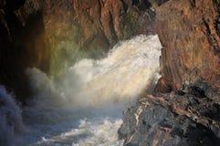Cascada de Epupa, Namibia Foto de archivo