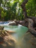 Cascada de Erawan, Kanchanaburi, Tailandia fotografía de archivo libre de regalías