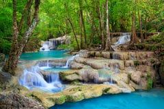 Cascada de Erawan, Kanchanaburi, Tailandia imagen de archivo libre de regalías