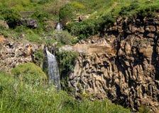 Cascada de Gamla en Israel Foto de archivo libre de regalías