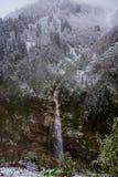 Cascada de Gelin Tulu que cae de la montaña de Kackar en el pueblo Ayder en la ciudad de Rize fotos de archivo