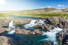 Cascada de Glanni en Islandia Foto de archivo libre de regalías