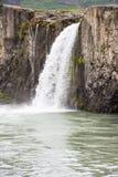 Cascada de Godafoos del detalle, Islandia Imagenes de archivo