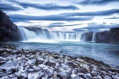 Cascada de Godafoss en Islandia Imágenes de archivo libres de regalías