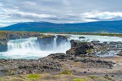 Cascada de Godafoss - Islandia septentrional Imagen de archivo