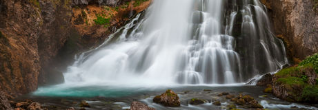 Cascada de Golling - panorama Fotografía de archivo