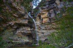 Cascada de Gollorio, Guadalajara, España Foto de archivo