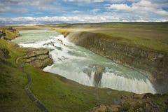 Cascada de Gulfoss, Islandia Imagenes de archivo