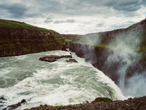 Cascada de Gullfoss en Islandia Foto de archivo libre de regalías