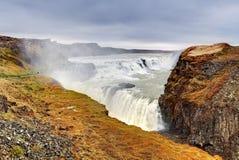 Cascada de Gullfoss, Islandia fotografía de archivo