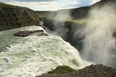Cascada de Gullfoss, Islandia imagen de archivo libre de regalías