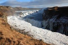 Cascada de Gullfoss, Islandia Foto de archivo libre de regalías