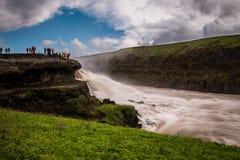 Cascada de Gullfoss la caída de oro en Islandia fotografía de archivo