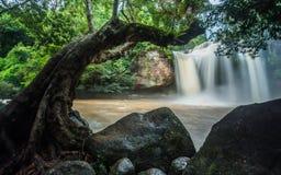 Cascada de Haew Suwat en el parque nacional de Khao Yai Fotografía de archivo