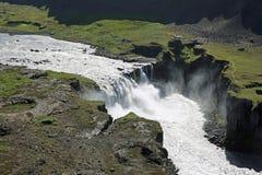 Cascada de Hafragilsfoss en Islandia Fotos de archivo