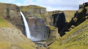 Cascada de Haifoss, Islandia almacen de video