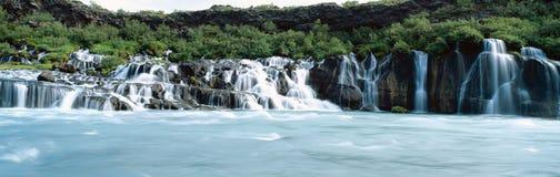 Cascada de Hraunfossar Fotografía de archivo