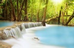 Cascada de Huai Mae Kamin Foto de archivo libre de regalías
