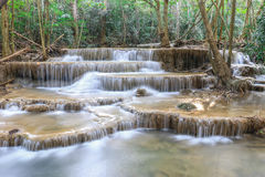 Cascada de Huai Mae Kamin Fotografía de archivo