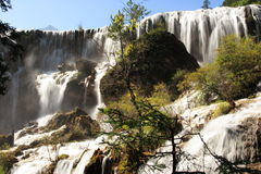 Cascada de Huanglong Imagenes de archivo