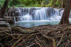 Cascada de Huay Mae Kamin, Tailandia Imagenes de archivo