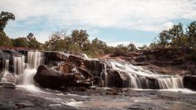 Cascada de Huay Mae Khamin, Tailandia Foto de archivo libre de regalías