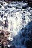Cascada de Hukou del chino que congela en invierno Imagen de archivo