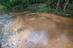 Cascada de Kbal Spean el lugar del misterio del imperio antiguo del Khmer en Siem Reap, Camboya Fotografía de archivo libre de regalías
