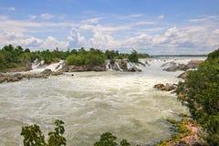 Cascada de Khone Pha Pheng en Champasak, Laos Foto de archivo