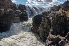Cascada de Kolugljufur, Islandia Imagen de archivo libre de regalías