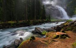 Cascada de Krimml en Austria Fotografía de archivo
